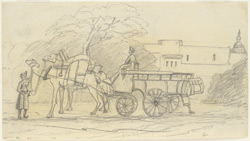Camel carriage, Govardhan (U.P.). 6 December 1868